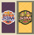 banners for fruit jam vector image vector image