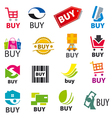 big set of logos buy vector image vector image