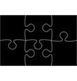 black piece puzzle jigsaw vector image vector image
