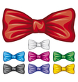 Bow ties collection vector image vector image