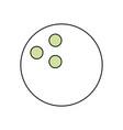 bowling sport ball vector image vector image