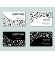 Business creative cards template with beauty items vector image