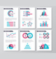 business infographic brochure pages vector image vector image
