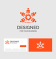 business logo template for team group leadership vector image