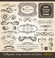 calligraphic design elements and frames vintage vector image vector image