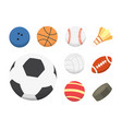 cartoon colorful ball set sport balls vector image vector image