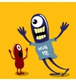 Cartoon cute monsters Friendly monster vector image