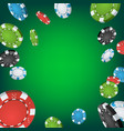 casino winner background falling explosion vector image vector image
