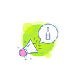 champagne bottle line icon anniversary alcohol vector image vector image