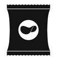 chips icon simple black style vector image