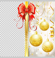christmas frame with bow vector image