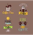Coffee badge food design hand drawn calligraphic