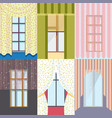 colorful classic windows collection vector image