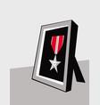 combat award military medal bronze star vector image