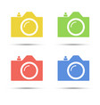 common slr camera color icons placed on white vector image