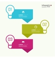Comparative chart with templates for presentation vector image vector image