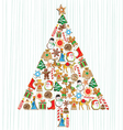 Cookie christmas tree vector | Price: 3 Credits (USD $3)