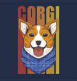 corgi dog bandana vector image