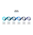 creative concept for infographic business data vector image