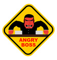 Danger angry boss Aggressive head screams Red vector image