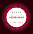 digital fire red equalizer as circle for radio vector image