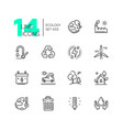 ecology - set of line design style icons vector image