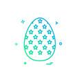 egg easter religion icon design vector image vector image