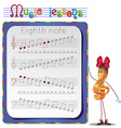 eighth note 2 vector image