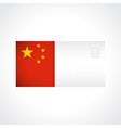 Envelope with Chinese flag card vector image