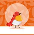 exotic birds cartoon vector image vector image