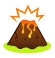 Explosing volcano vector image