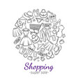 fashion online shopping vector image vector image