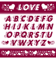 floral alphabet design vector image