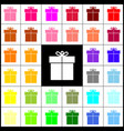 gift sign felt-pen 33 colorful icons at vector image vector image