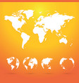 globes planet earth with all continents and world vector image vector image