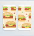 hamburger retro concept vector image