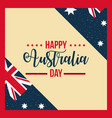 happy australia day celebration vector image vector image
