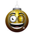 happy christmas ball emoji vector image