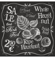 hazelnut walnut nut logo design template vector image vector image