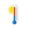 heat thermometer and sun icon on a white vector image vector image