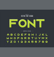 highlights font and alphabet bold typeface vector image vector image