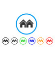 houses rounded icon vector image vector image