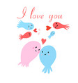 in love with jellyfish vector image vector image