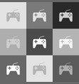 joystick simple sign grayscale version of vector image vector image