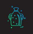 jug icon design vector image vector image