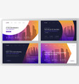 landing pages templates set for business vector image vector image