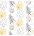 line art floral spring seamless pattern background vector image