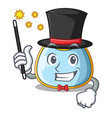 magician baby bib isolated on the mascot vector image