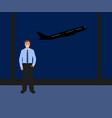 man at international airport vector image
