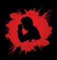 man prayer graphic vector image vector image